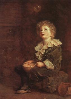 Sir John Everett Millais : Bubbles
