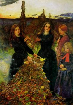 Sir John Everett Millais : Autumn Leaves