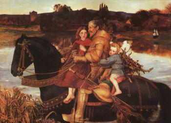Sir John Everett Millais : Sir Isumbras at the Ford