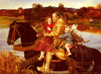 Sir John Everett Millais : A Dream Of The Past Sir Isumbras At The Ford