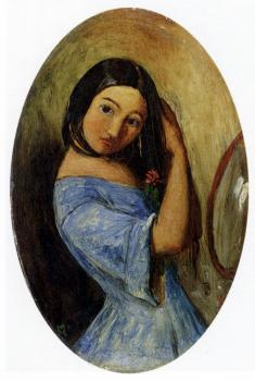 Sir John Everett Millais : A Young Girl Combing Her Hair