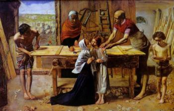 Sir John Everett Millais : Christ carpenter