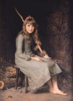 Sir John Everett Millais : Cinderella