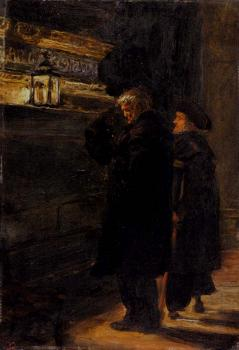 Sir John Everett Millais : Grenwich Pensioners At The Tomb Of Nelson