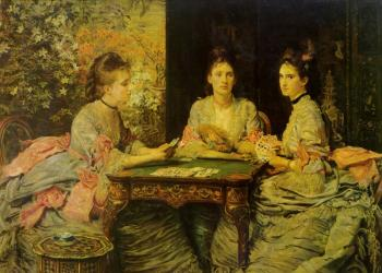 Sir John Everett Millais : hearts are trumps