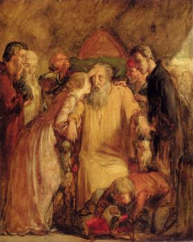 Sir John Everett Millais : Lear And Cordelia