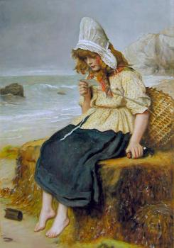 Sir John Everett Millais : Message From the Sea