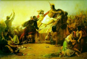 Sir John Everett Millais : Pizarro Seizing the Inca of Peru