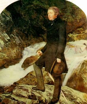 Sir John Everett Millais : portrait of john ruskin