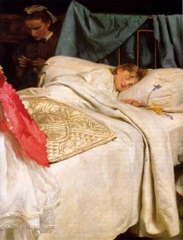 Sir John Everett Millais : Sleeping