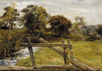 Sir John Everett Millais : View Near Hampstead