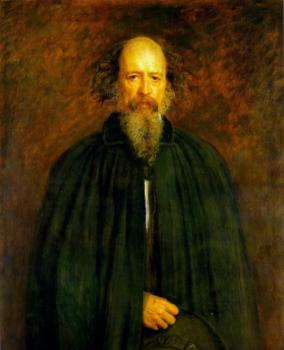 Sir John Everett Millais : Portrait of Lord Alfred Tennyson