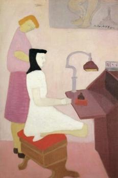 Two figures at desk