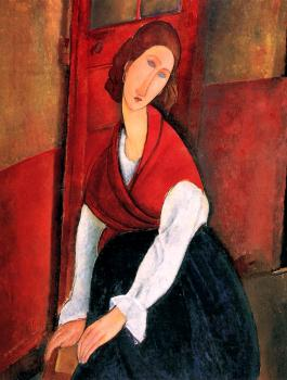 Amedeo Modigliani : Portrait of Jeanne Hebuterne