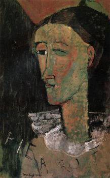 Amedeo Modigliani : Pierrot (Self Portrait as Pierrot)