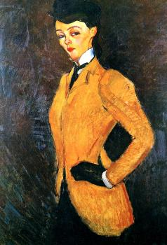 Amedeo Modigliani : Woman in yellow jacket (Amazon)