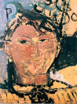 Amedeo Modigliani : Portrait of Picasso