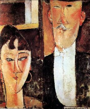 Amedeo Modigliani : Bride and Groom