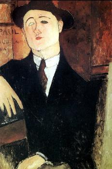 Amedeo Modigliani : Portrait of Paul Guillaume