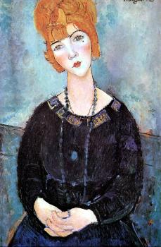 Amedeo Modigliani : Woman With a Necklace