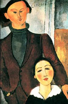 Amedeo Modigliani : Jacques Lipchitz and His Wife