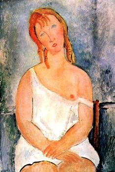 Amedeo Modigliani : Girl in a White Chemise