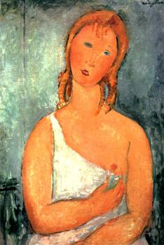 Amedeo Modigliani : Girl in a White Chemise II