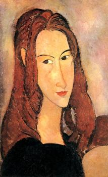 Amedeo Modigliani : Portrait of Jeanne Hebuterne II