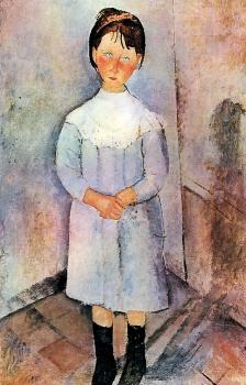 Amedeo Modigliani : Little Girl In Blue