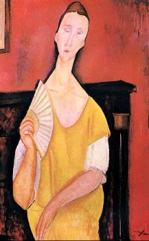 Amedeo Modigliani : Woman with a Fan (Lunia Czechowska)