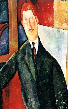 Amedeo Modigliani : Seated man