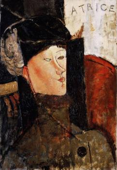 Amedeo Modigliani : Portrait of Beatrice Hastings III