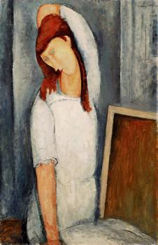 Amedeo Modigliani : Jeanne Hbuterne, Left Arm Behind her Head