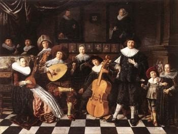Jan Miense Molenaer : Family Making Music
