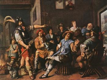 Jan Miense Molenaer : The Denying of Peter