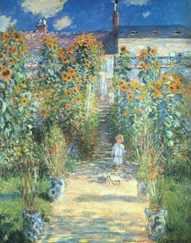 Claude Oscar Monet : The Artist's Garden at Vetheuil