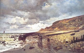 Claude Oscar Monet : The Headland of the Heve at Low Tide