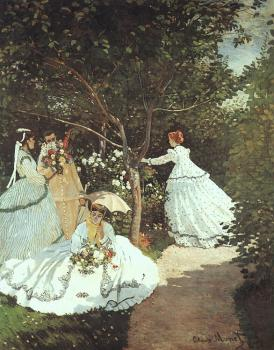 Claude Oscar Monet : The women in the Garden