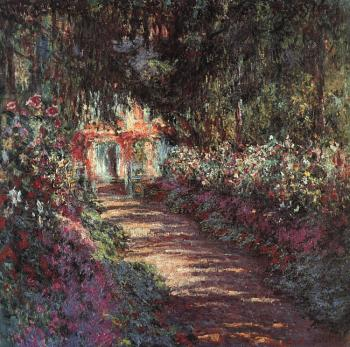 Claude Oscar Monet : The garden in flower