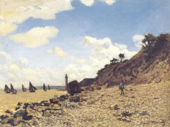 Claude Oscar Monet : Beach at Honlfeux