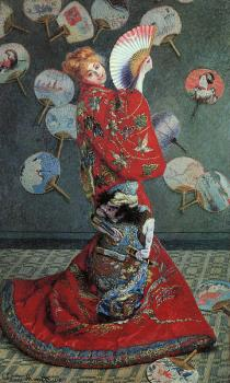 Claude Oscar Monet : La Japonaise, Alternative title: Camille Monet in Japanese Costume