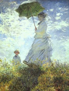 Claude Oscar Monet : Woman with a Parasol
