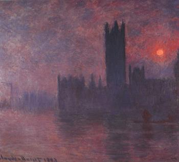Claude Oscar Monet : London: Houses of Parliament at Sunset