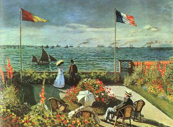 Claude Oscar Monet : Terrace at St Adresse