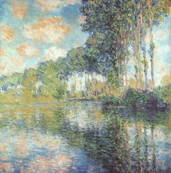 Claude Oscar Monet : Poplars on the Epte