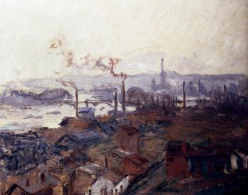 Claude Oscar Monet : General View Of Rouen From St. Catherine's Bank