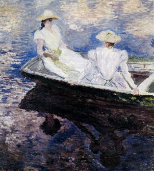 Claude Oscar Monet : Girls In A Boat