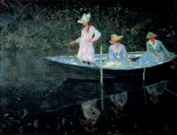 Claude Oscar Monet : In The Rowing Boat