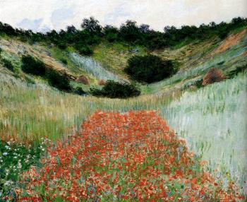 Claude Oscar Monet : Poppy Field In A Hollow Near Giverny