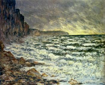 Claude Oscar Monet : The Sea At Fecamp
